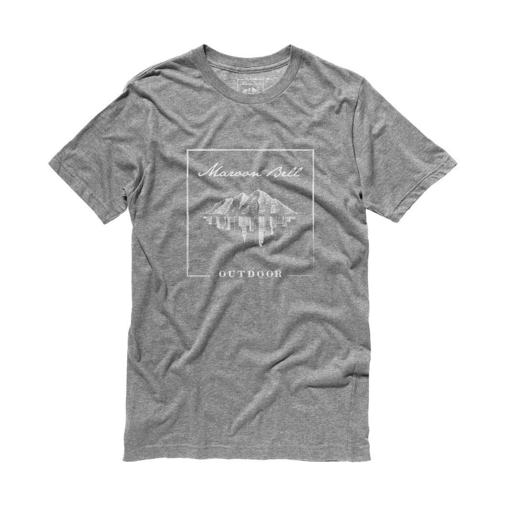 Unisex Custom Bamboo T-Shirt | Granite Grey White | Outdoor Apparel | Maroon Bell Outdoor®