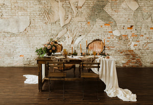 Sweetheart table for a bohemian wedding
