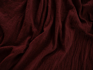 Cabernet Hand Dyed Gauze Table Runner