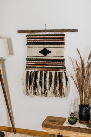 Folk Inspired Extra Large Weaving