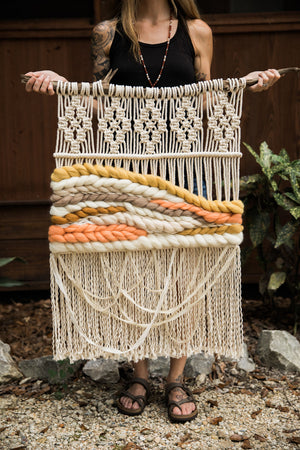 """Sunstone"" Macrame Wall Hanging"