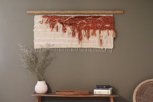 Large Terracotta & Cream Wall Hanging