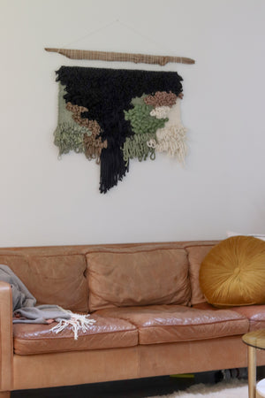 Contemporary Waterfall Woven Wall Hanging (Made to Order)