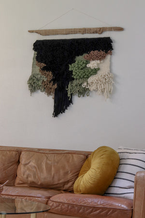 Contemporary Waterfall Woven Wall Hanging