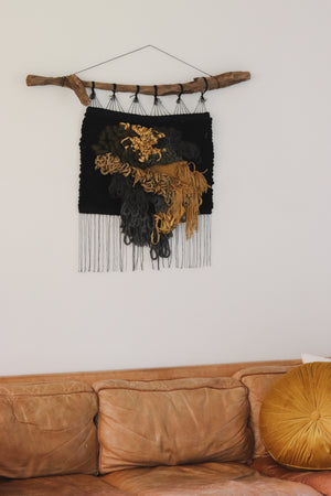 """Moss Wall"" Woven Wall Hanging"