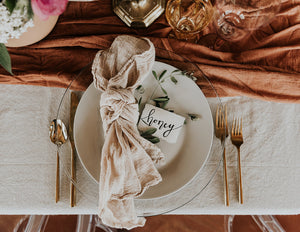 Terracotta Hand Dyed Gauze Table Runner