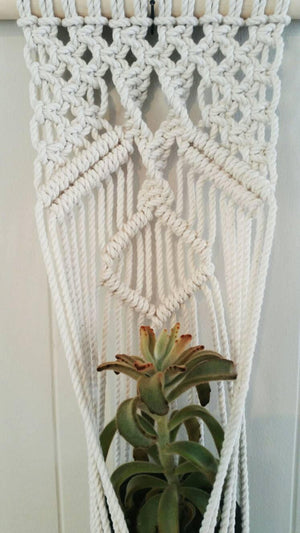 Large Macrame Wall Planter