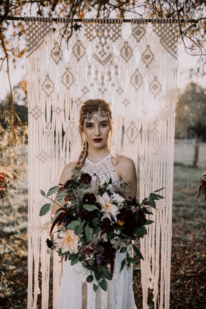 "Large ""Lace"" Macrame Wedding Backdrop"