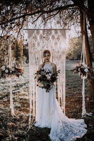 "Large ""Lace"" Macrame Wedding Backdrop (Made to Order)"