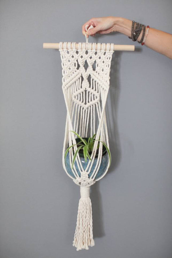 Large Macrame Wall Planter Mosshound Designs