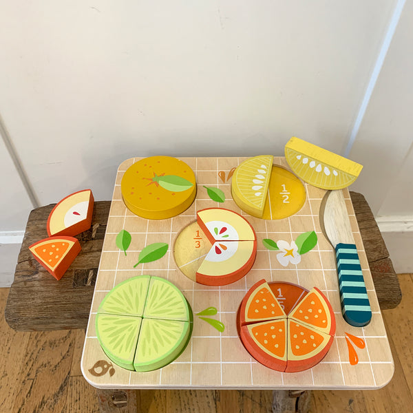 Sustainable Wood Citrus Fractions Puzzle