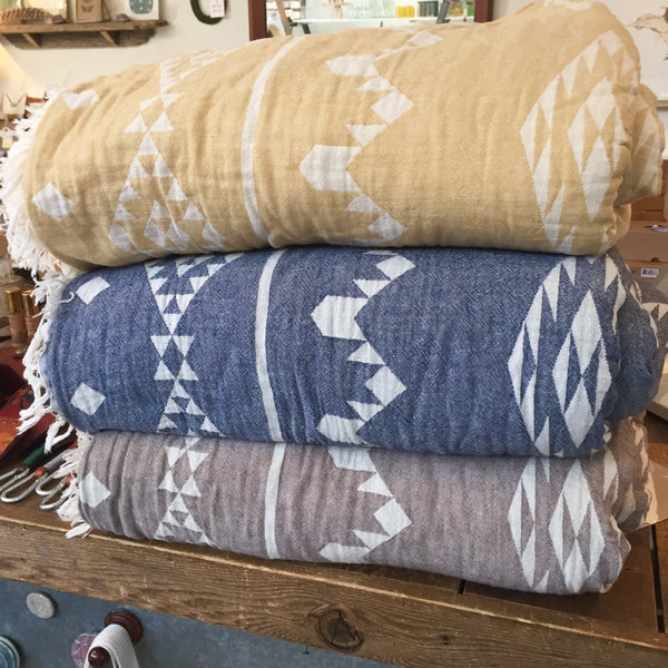 Kilim Fleece Lined Throws
