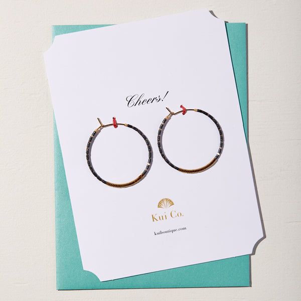 Miyuki Beaded Hoop Earrings