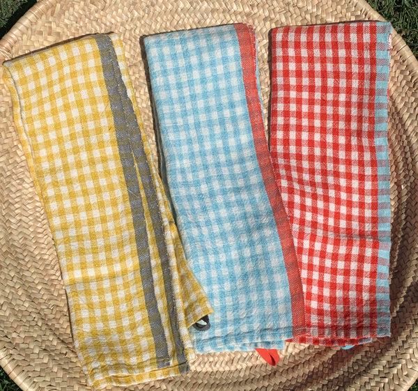 Linen Gingham Tea Towels