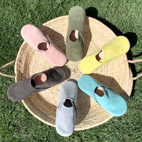 Suede Moroccan Slippers