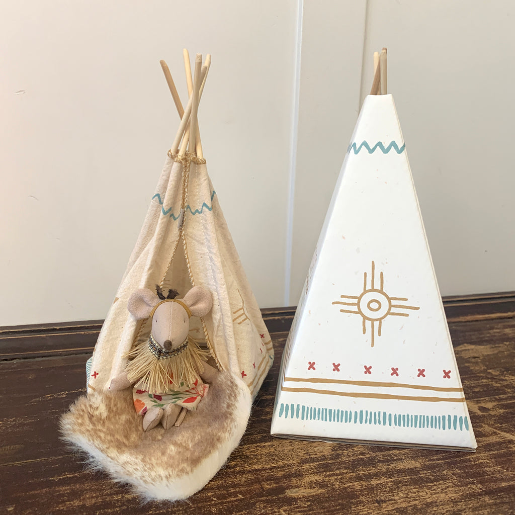 Maileg Tipi with Little Sister and Blanket