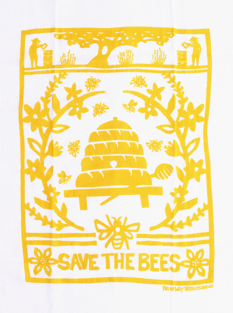 Screen Printed Flour Sack Cotton Tea Towels