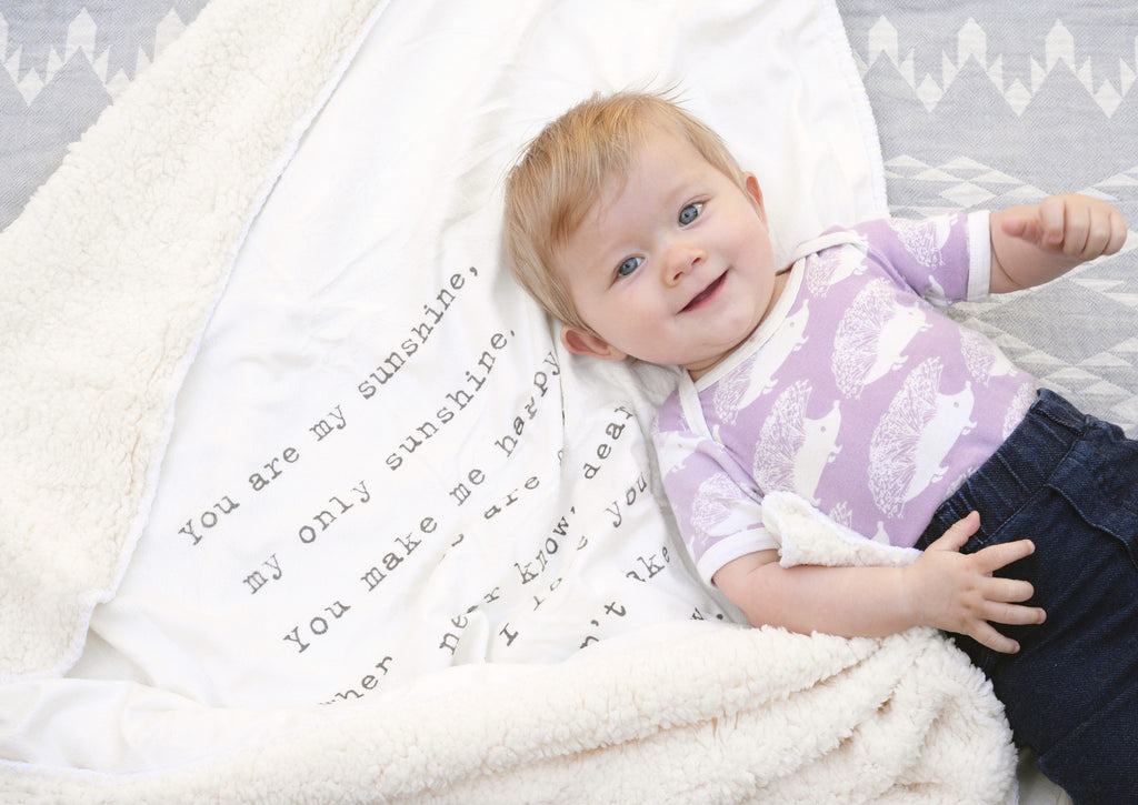 Plush Quote Baby Blankets