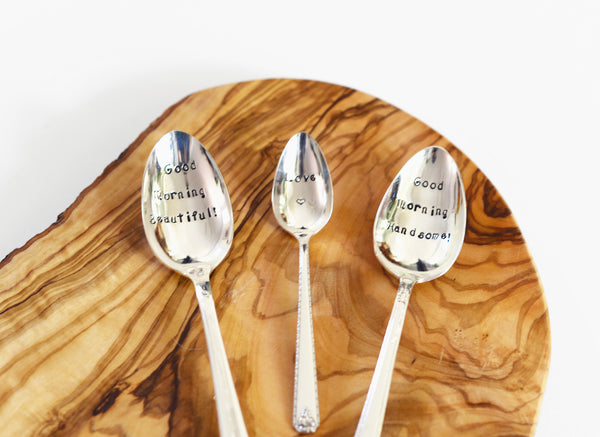 Spoon with Hammered Quote