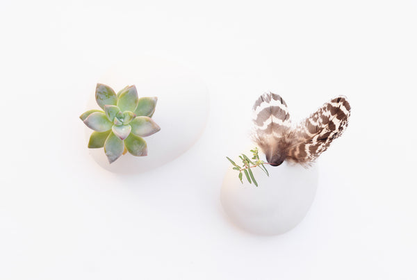 Porcelain Pebble Vases