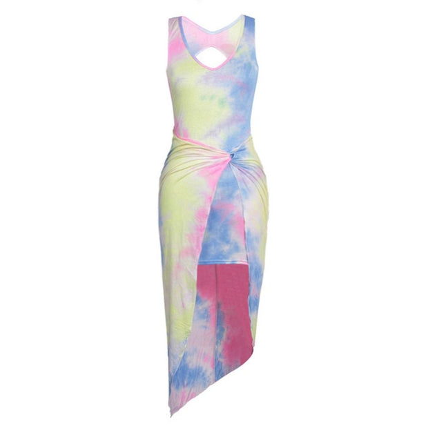 Tie Dye Beach Dress
