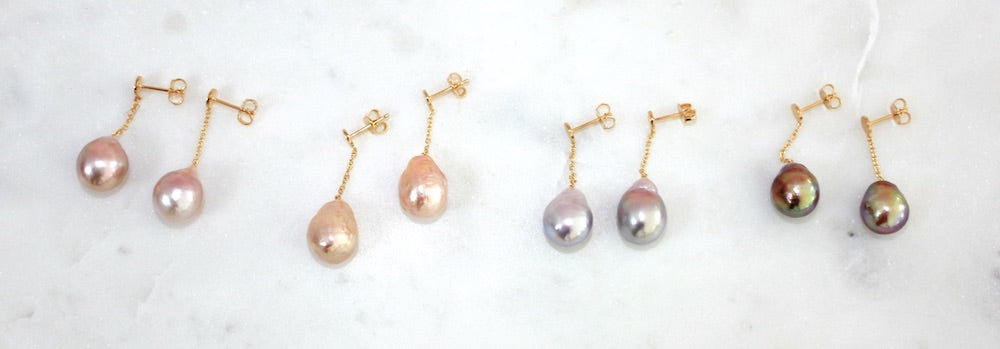 Mermaid Stories baroque pearl earrings