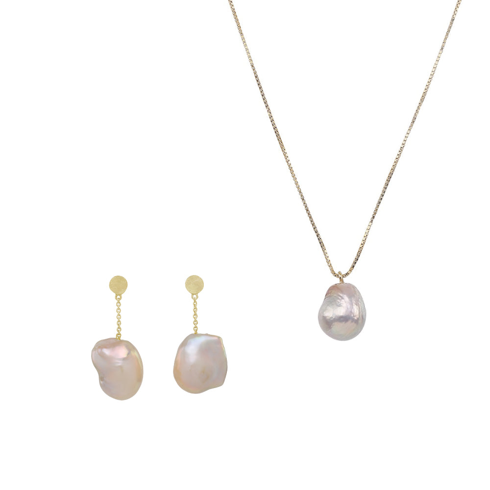 BAROQUE PEARL SET (Gold-plated)