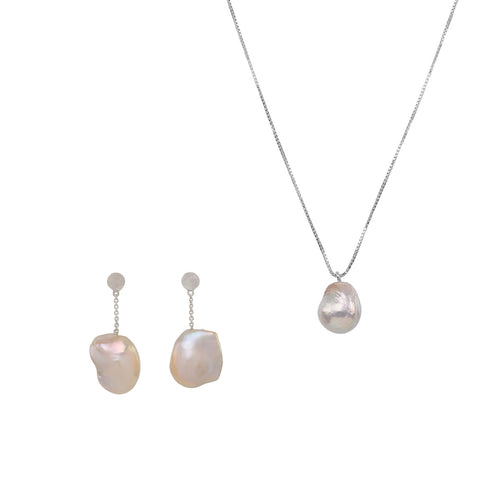 BAROQUE PEARL SET (Silver)