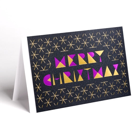 Christmas Cards Pink (Pack of 4)