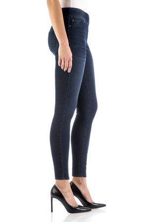 DARK SMOKY HIGH RISE PULL ON LEGGING - BLEU-BLEU