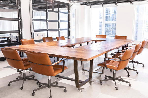 reclaimed fir boardroom table