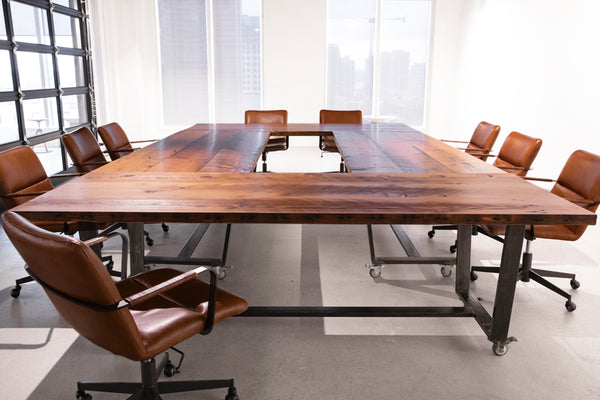 industrial boardroom table