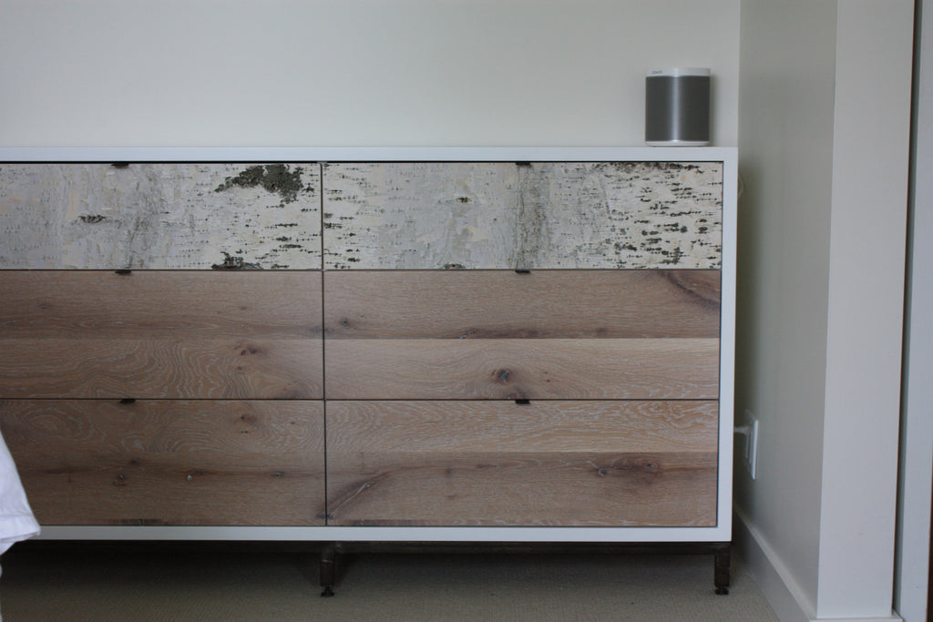 Whitewashed Birch cabinet