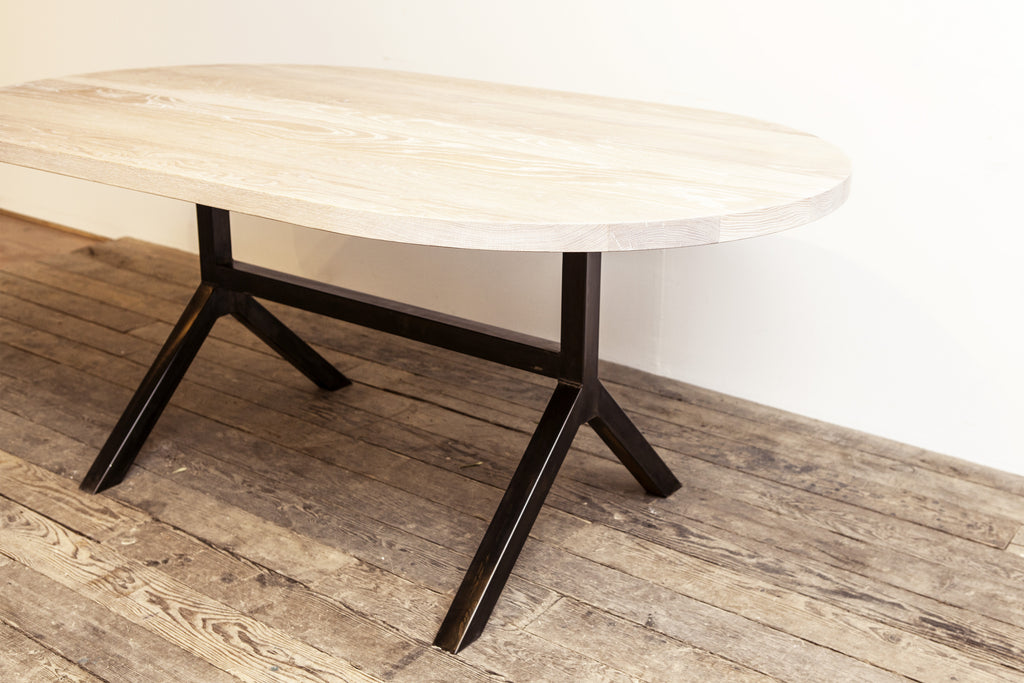 custom wood wishbone table