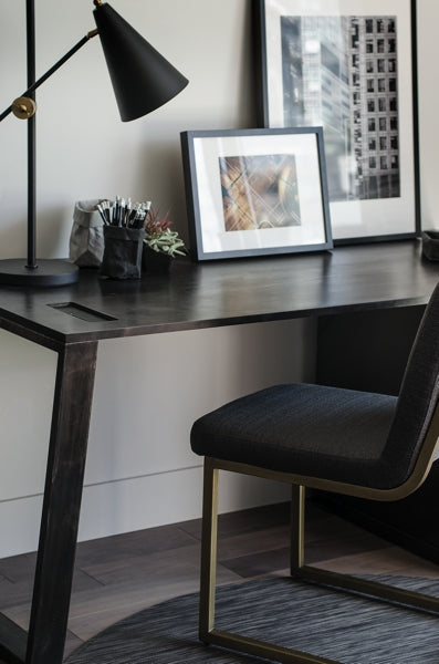 oxidized oak desk