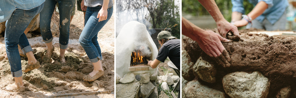 building a natural clay oven