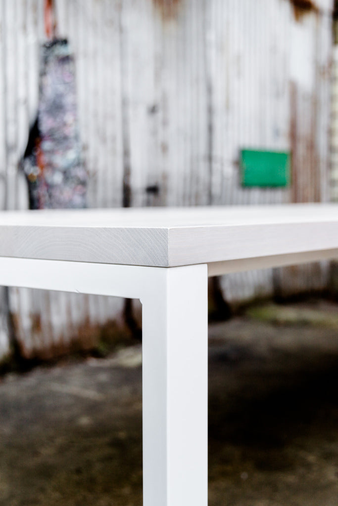 Whitewashed Conference Table