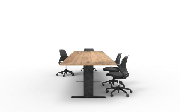 wood and metal custom boardroom tables