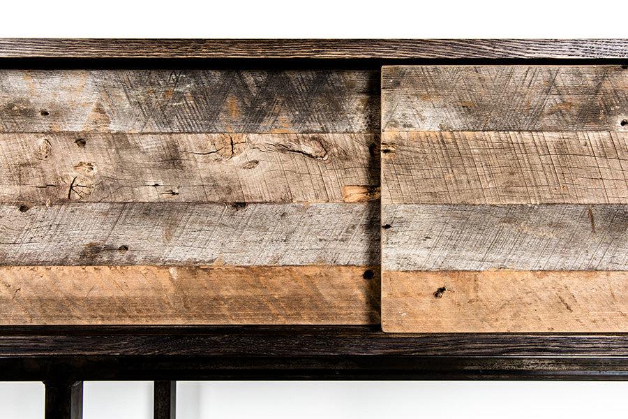 rustic wood sideboard