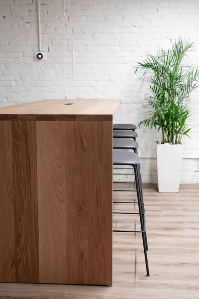 solid wood communal desk