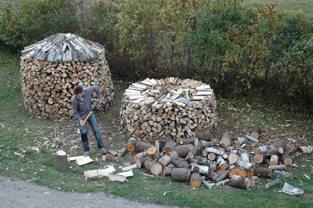 best way to stack firewood