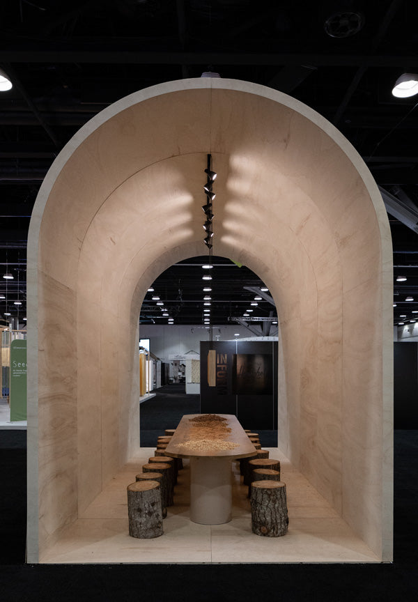 wood furniture booth