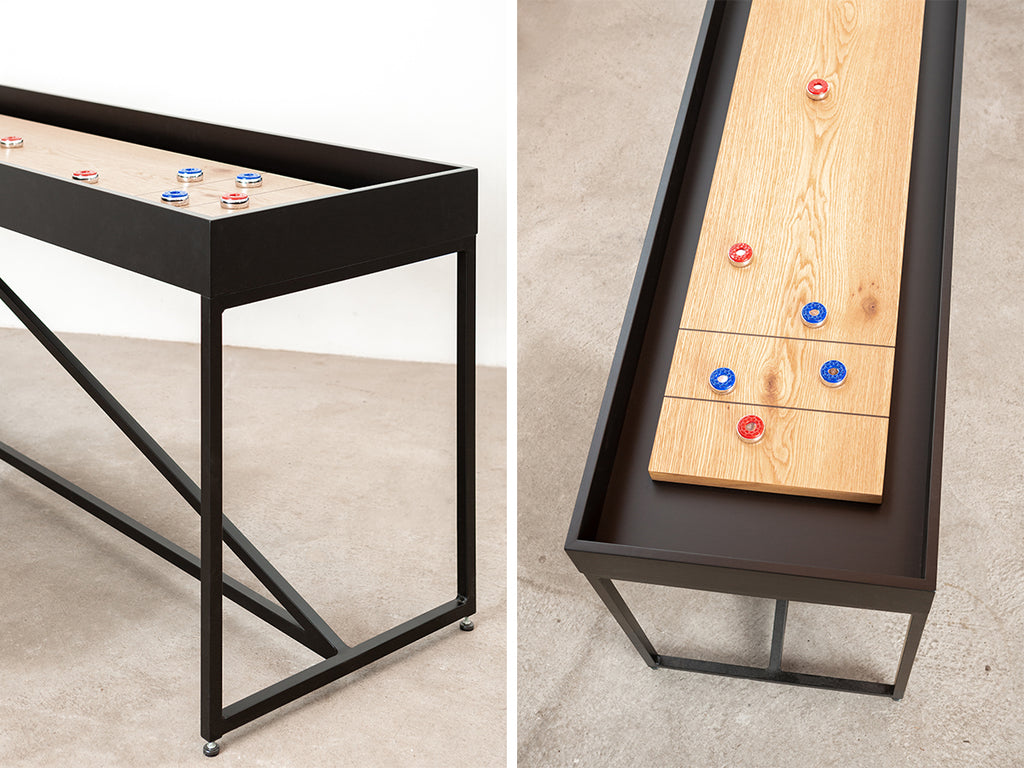 modern shuffleboard table