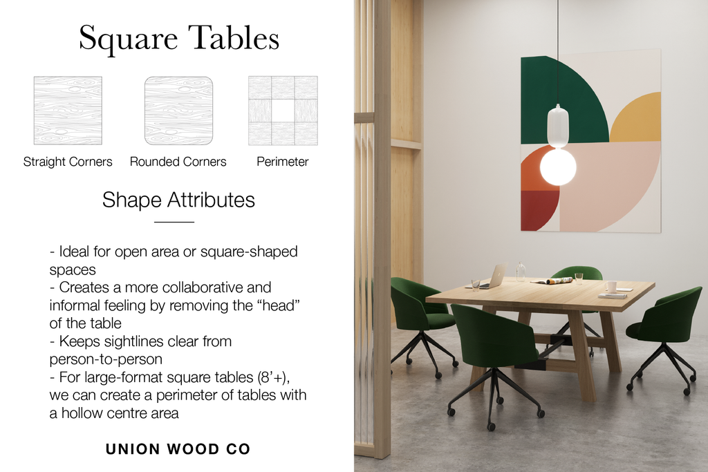square shaped tables