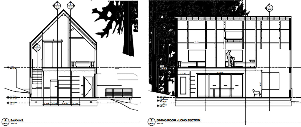 the trail house - cabin elevations