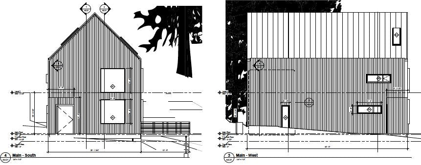 the trail house - exterior elevations