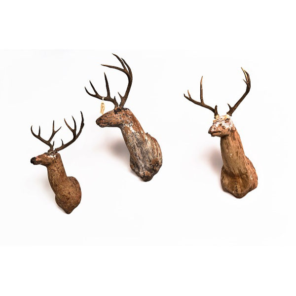 vintage deer mounts