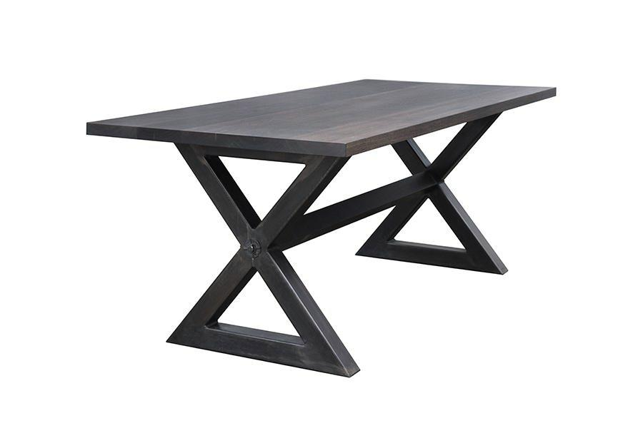 picnic dining table with X-base
