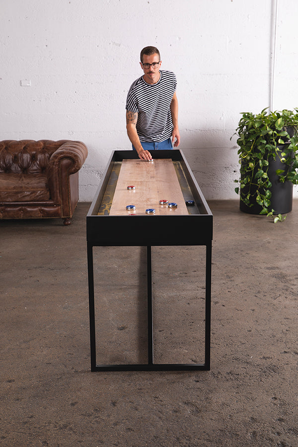 9' shuffleboard table