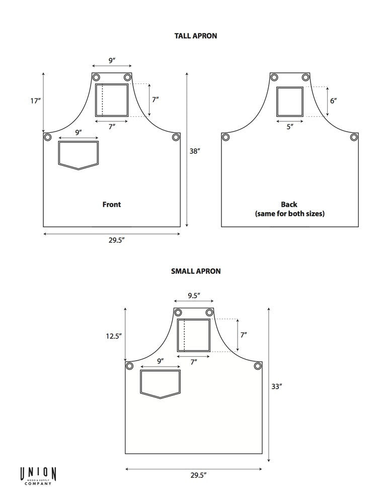 canvas shop apron design
